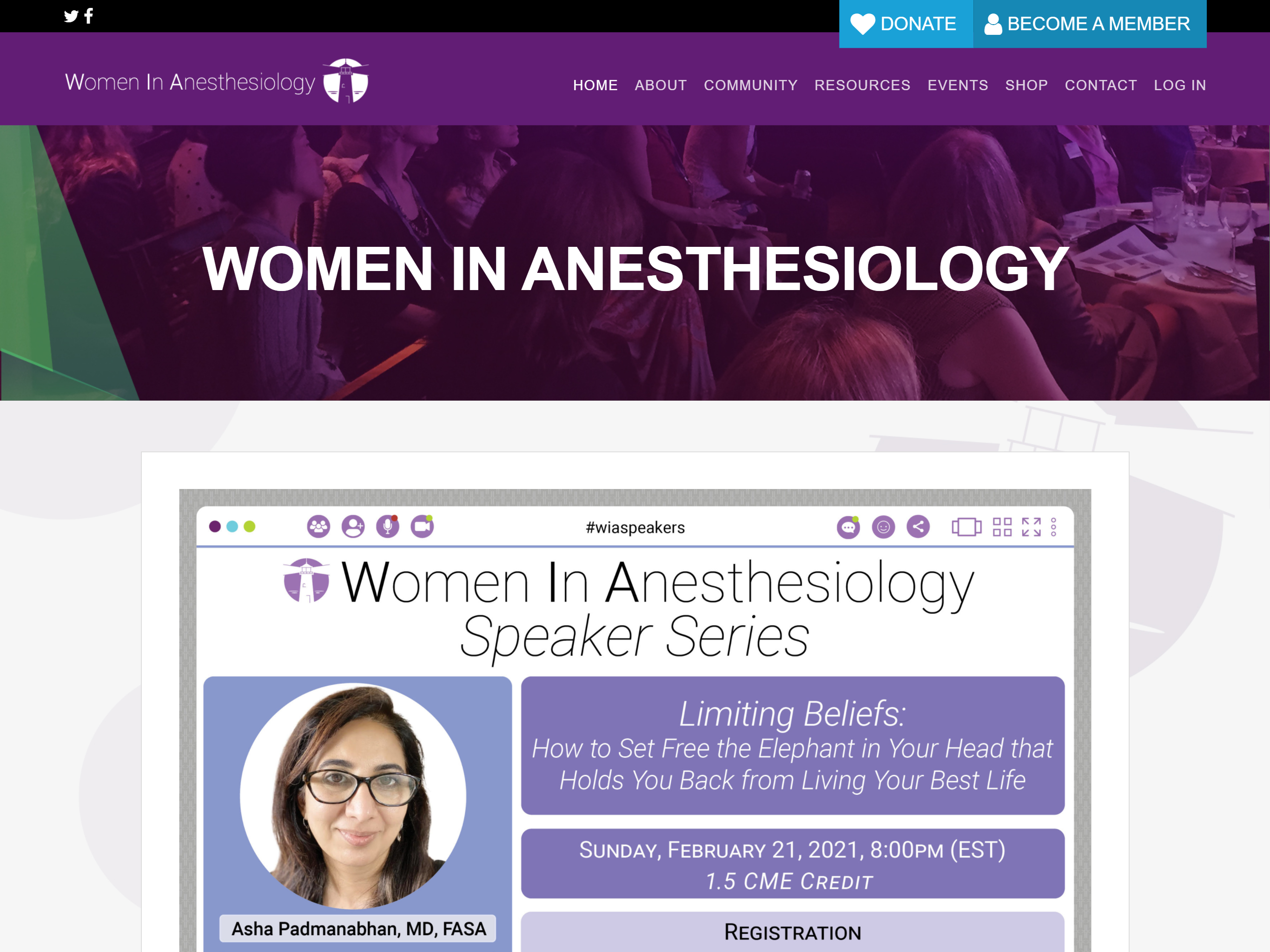 Sitio web de Women In Anesthesiology
